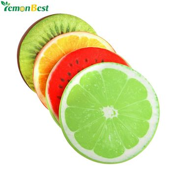 3D Simulation Fruit Cushion 32*5CM Round Pillow Chair Seat Sofa Meditation Floor Cushions For Home Decoration Christmas Gift
