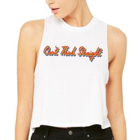 Can't Think Straight Pride Tank Top Racer Crop