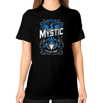 It's Go Time Team Mystic Unisex T-Shirt (on woman)