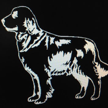 Dog Breed Golden Retriever Vinyl Decal Sticker Custom Vehicle Auto Decal