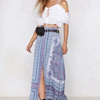 The Flow Down Printed Skirt