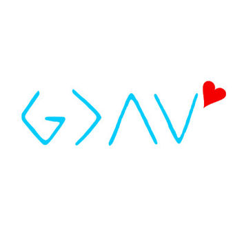 God is greater than the highs and lows, Christian decal