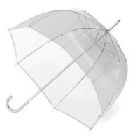 Totes Signature Manual Bubble Stick Umbrella, Clear Dots, One Size