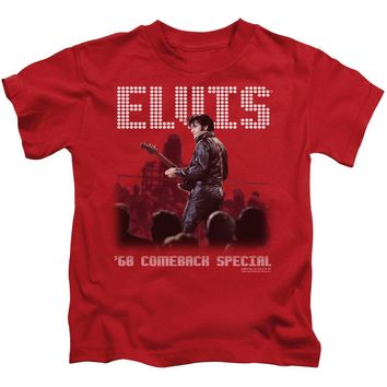 Elvis Presley Boys T-Shirt 68 Comeback Special Red Tee