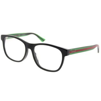 Gucci GG 0004OA Asian Fit Plastic Square Eyeglasses 55mm