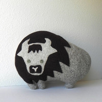 the Bison - Plush Wool Pillow
