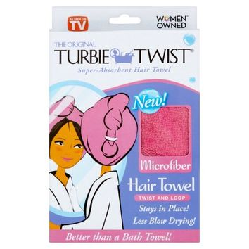 Turbie Twist The Original Microfiber Hair Towel - Walmart.com