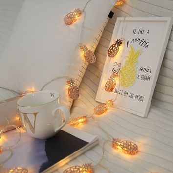 10PC Pineapple Bulb String Light