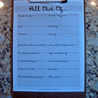 Grocery List In Grey