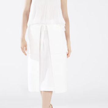 White BCBG Women's Runway Bridget Top