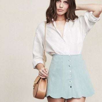 The Reformation Abigail suede Skirt