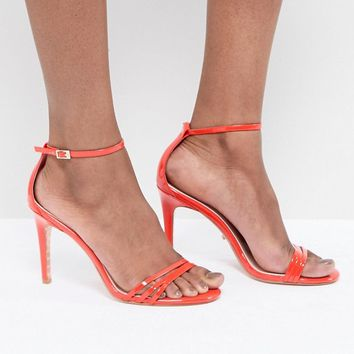 Dune Bright Orange Two Part Strappy Heeled Sandal at asos.com