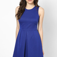 Cobalt Dobby Skater Dress