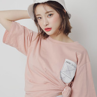Patch Detail Oversized T-Shirt