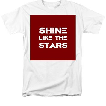 Shine Like The Stars - Motivational And Inspirational Quote - Men's T-Shirt  (Regular Fit)