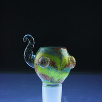 "Empire Glassworks ""Rainbow"" Male Bowl"
