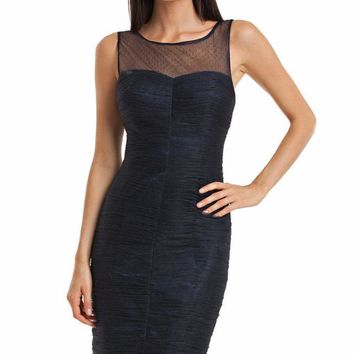 JS Collections - Sleeveless Shirred Cocktail Dress 864253