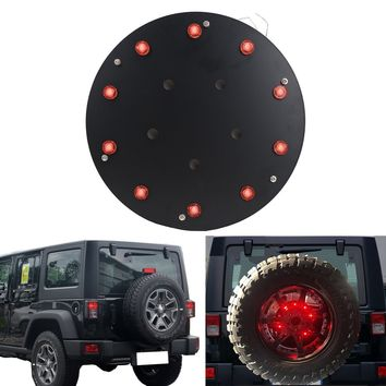 "12.5"" Spare Tire LED Brake Lamp Wheel Rear 3rd Brake Light for Jeep JK TJ JK Wrangler 1986-2017"