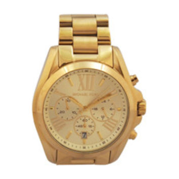 mk5605 bradshaw gold-tone watch by michael kors