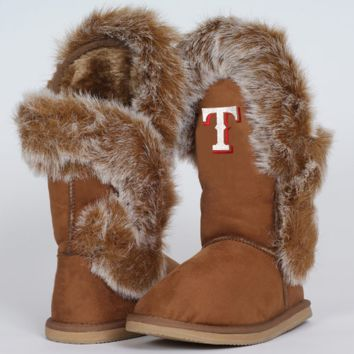 Cuce Shoes Texas Rangers Ladies The Fanatic Boots - Tan - http://www.shareasale.com/m-pr.cfm?merchantID=7124&userID=1042934&productID=520991754 / Texas Rangers
