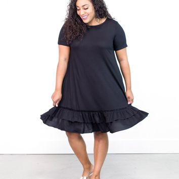 Jennica Ruffle Hem Dress | Plus Size