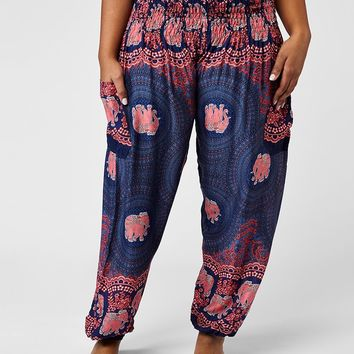 Nellie Plus Size Dark Blue Harem Pants