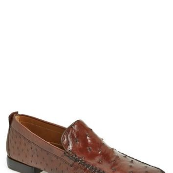 Men's Mezlan 'Rollini' Ostrich Leather Loafer,