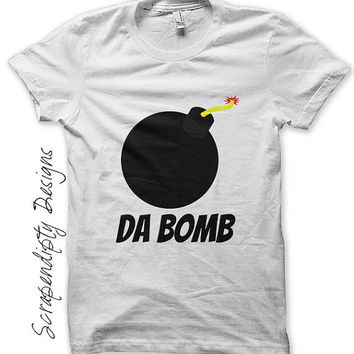 Da Bomb Iron on Shirt PDF - Hipster Iron on Transfer / Kids Boys Clothing Tops / Funny Girls Shirt / Video Game Tshirt / Printable  IT111