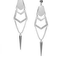 Warehouse | Warehouse Rhinestone And Spike Earrings at ASOS