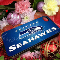 Seattle Seahawks Design - for iPhone 4/4s, iPhone 5/5s/5c, Samsung S3 i9300, Samsung S4 i9500 Hard Case