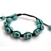 Skull Beads Mala Wrist Hand Crafted Adjustable Wrist Bracelet