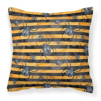 Watecolor Halloween Spiders Fabric Decorative Pillow BB7526PW1414