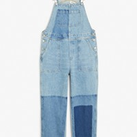 Monki | View all new | Denim patch dungarees