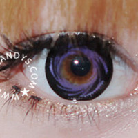 EOS Barbiedoll Violet Circle Lenses Colored Contacts Cosmetic Color Circle Lens | EyeCandy's