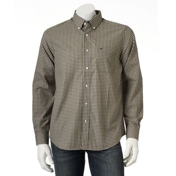 Dockers Checked No-Wrinkle Casual Button-Down Shirt