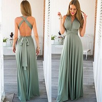 Elegant Gradient Casual Women Maxi Dress Sexy Multiway Dress Donne Boho Club Vestito Party Wedding Bridesmaid Maternity Dresses