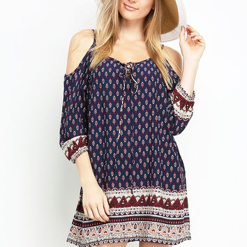 Off-The-Shoulder Boho Dress