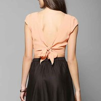 Pins And Needles Tie-Back Cap-Sleeve Blouse-