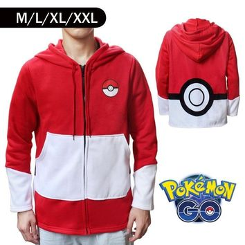 Cartoon Hoodie Pikachu Red Sweater Apparel  thick warm Christmas gifts Pikachu cosplayKawaii Pokemon go  AT_89_9