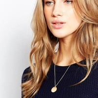 Pilgrim Coin Long Pendant Necklace at asos.com