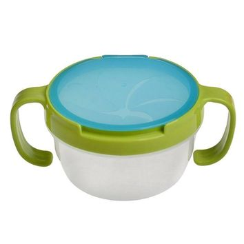 NEW Baby Feeding Double Handle Biscuits Snack Bowl Spill Proof Cup Bowls Accesories