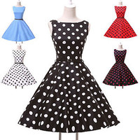 Audrey Hepburn Vintage Retro 50s 60s Rockabilly Swing Pin Up Evening Tea Dress a