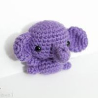 purple small elephant by adorablykawaii on Etsy