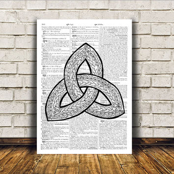 Celtic knot print Wall decor Medieval art Celt poster RTA185