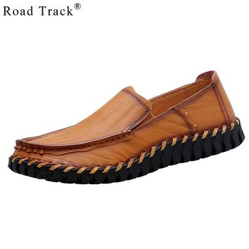 Road Track Shoes For Men Business Casual Spring Autumn Soft Bottom All-matching Solid Color Wear-resistant Loafers
