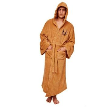 Star Wars Robes Darth Vader Coral Fleece  Jedi Adult Bathrobe Robe