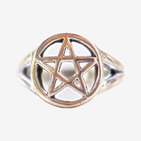 Wiccan Star Solid 925 Sterling Silver Ring