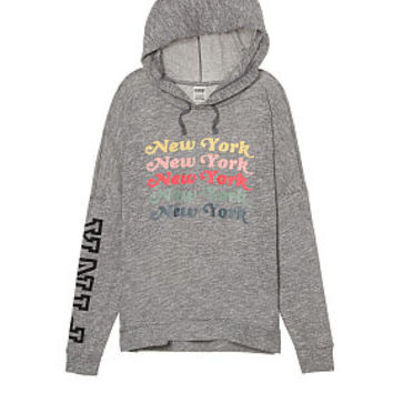 Crossover Pullover Hoodie - PINK - Victoria's Secret