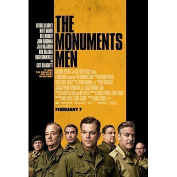 Monuments Men poster Metal Sign Wall Art 8in x 12in