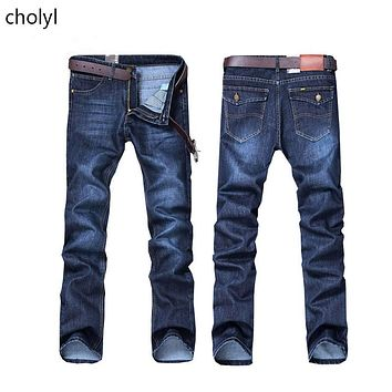 Hot Sale Mens Biker fashion  Jeans Men homme Casual Denim Straight Design Blue Cheap Clothes China Brand  Jean Men hombre CHOLYL